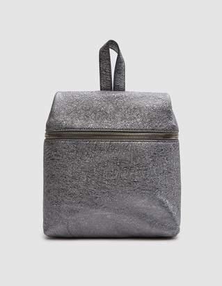 Kara Crinkled Metallic Small Backpack in Pyrite