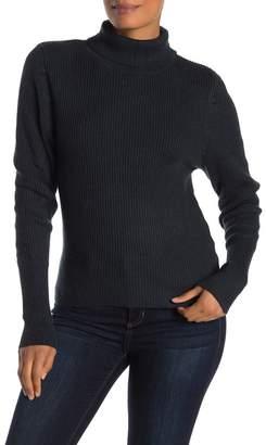 Cocobleu Ribbed Knit Turtleneck Sweater