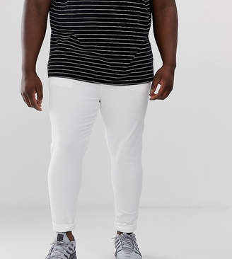 cfe63f7ad6873 Asos Design DESIGN Plus spray on jeans in power stretch in white