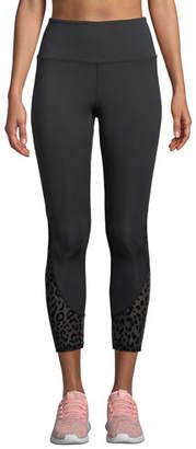 Kate Spade High-Rise Leopard Mesh Cropped Leggings