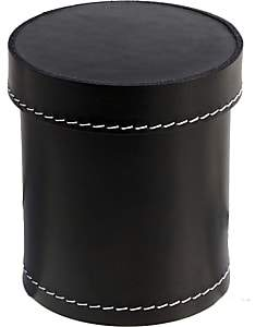 Arte & Cuoio Leather Pencil Cup-Black