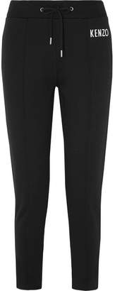Kenzo Embroidered Cotton-jersey Track Pants - Black