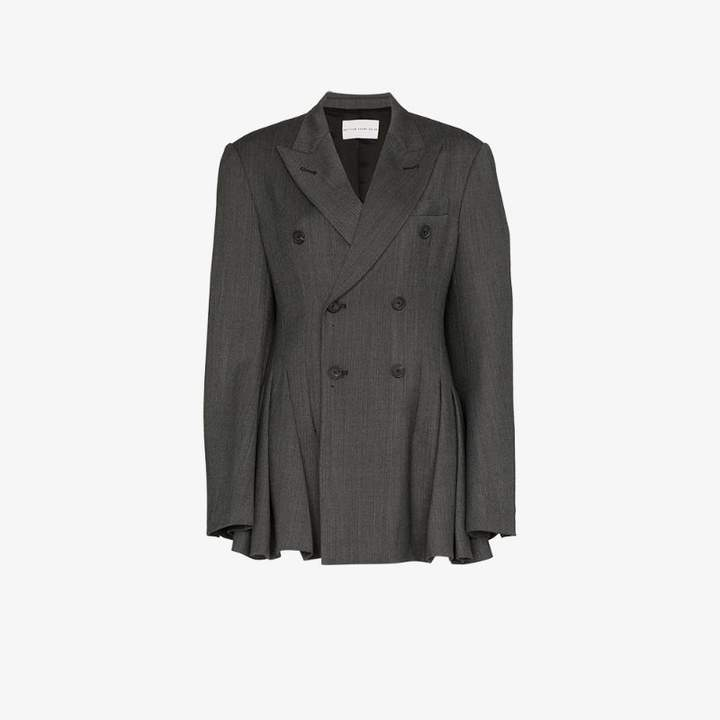 Matthew Adams Dolan pleated double-breasted blazer