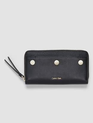 Calvin Klein panel large zip wallet
