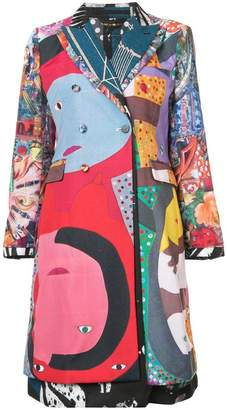 Comme des Garcons cut-out back printed coat