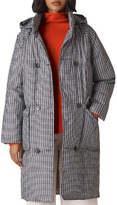 Whistles Checked Longline Puffer Coat