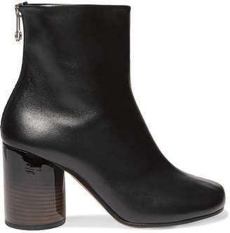 Maison Margiela - Leather Ankle Boots - Black $880 thestylecure.com