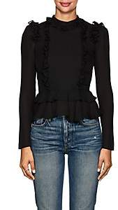 Chloé Laura Garcia Collection Women's Ruffled Silk Blouse - Black