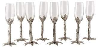 Neiman Marcus Set of 8 Cipolla Champagne Flutes