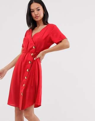 Blend She wrap midi dress