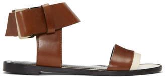 Lanvin Brown Knot Sandals
