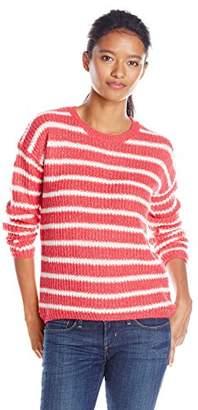 U.S. Polo Assn. Juniors' Lurex Striped High/Low Sweater