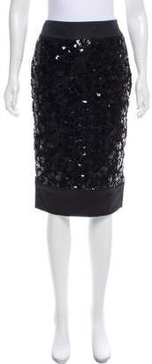 Giambattista Valli Sequin Knee-Length Skirt