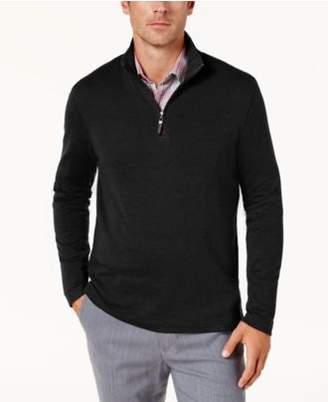 Tasso Elba Men's Supima® Cotton Quarter-Zip Sweater, Created for Macy's
