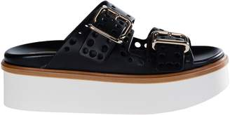 Tod's Punched Hole Double Strap Platform Sandals