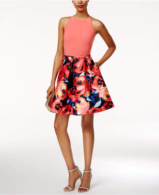 Adrianna Papell Floral-Print Fit & Flare Dress $149 thestylecure.com