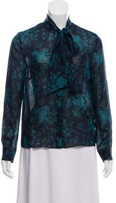 Iris & Ink Silk Button-Up Top