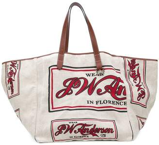 oversized slogan tote bag