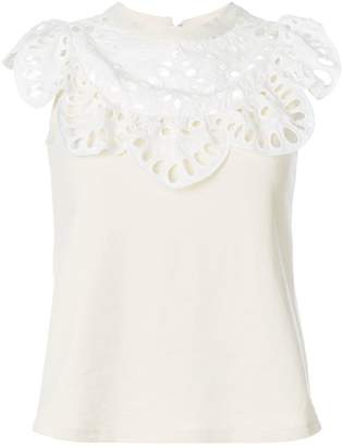 See by Chloe scalloped-collar top