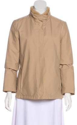 Max Mara Faux Fur-Trimmed Zip-Up Jacket