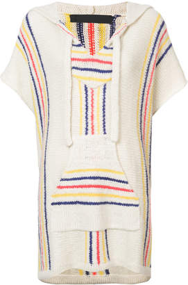 The Elder Statesman cashmere hooded long sweater