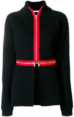 Givenchy contrast trim cardi-coat