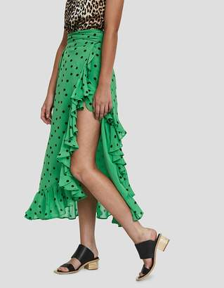 Ganni Dainty Georgette Polka Dot Skirt