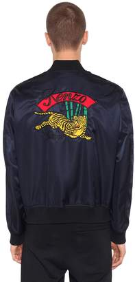 Kenzo Tiger Embroidered Nylon Bomber Jacket