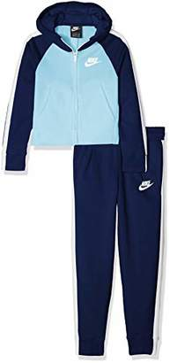 Nike Girl's G NSW TRK Suit Pe Tracksuit Void/Blue Chill 478, (Manufacturer Size: Large)