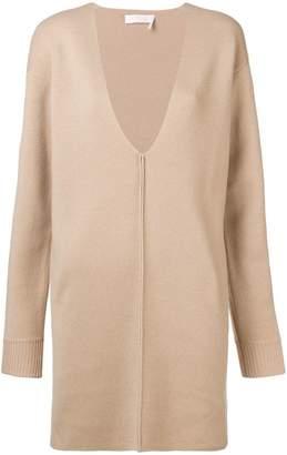Chloé V-neck mini sweater dress