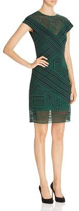 Tadashi Shoji Geometric Dress $368 thestylecure.com