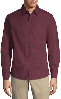 Haggar Long Sleeve Button-Front Shirt-Big and Tall