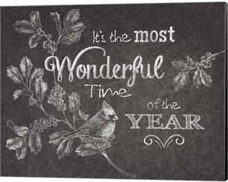 Metaverse Chalkboard Christmas Sayings Vi By Beth Grove Canvas Art