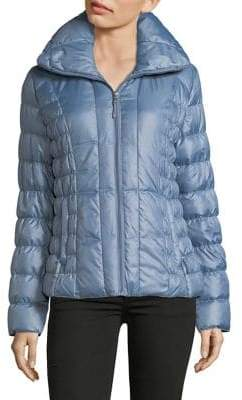 Kenneth Cole New York Ruched Filled Puffer Jacket