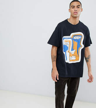 Reclaimed Vintage inspired face print t-shirt in multi color