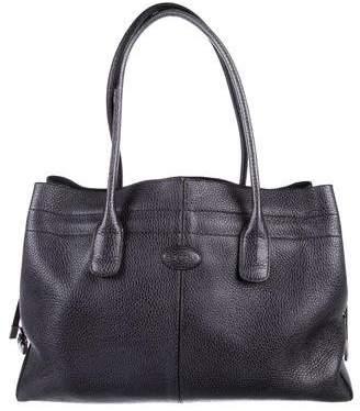 Tod's Metallic Leather Shoulder Bag