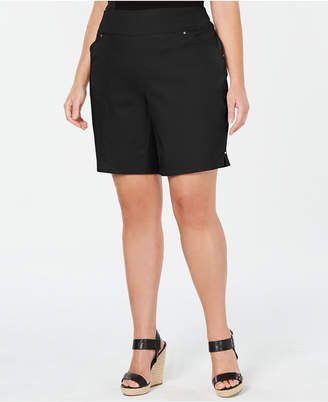 INC International Concepts I.n.c. Plus Size Stretch Bermuda Shorts
