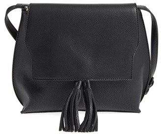 Sole Society Tassel Faux Leather Crossbody Bag - Black $54.95 thestylecure.com