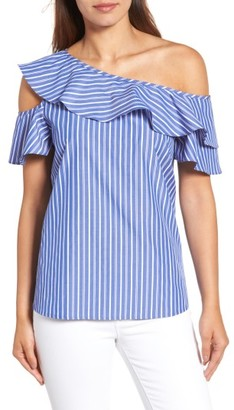Women's Pleione Ruffle One-Shoulder Top $54 thestylecure.com
