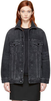 Alexander Wang Grey Oversized Denim Daze Jacket