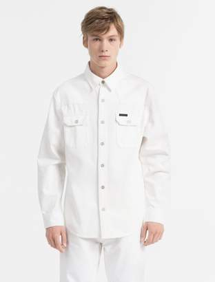 Calvin Klein western ecru wash shirt