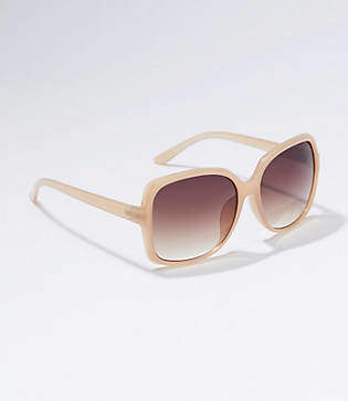 LOFT Tortoiseshell Print Rectangle Sunglasses