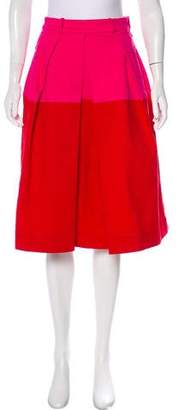 Preen Line Colorblock Pleated Skirt