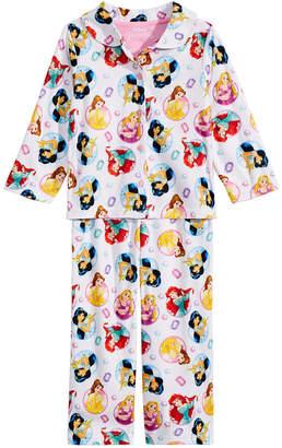 Disney Toddler Girls 2-Pc. Princesses-Print Pajama Set