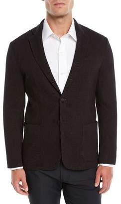 Emporio Armani Men's Soft 3D Jersey Two-Button Blazer Jacket