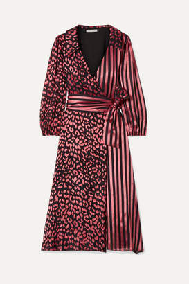 Alice + Olivia Alice Olivia - Abigail Devoré Silk-blend Chiffon Wrap Dress - Pink