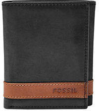 Fossil Quinn Leather Trifold Wallet