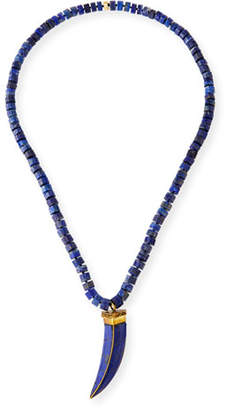 Lapis NEST Jewelry Tusk Pendant Necklace, 37""