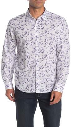 John Varvatos Floral Print Trim Fit Shirt