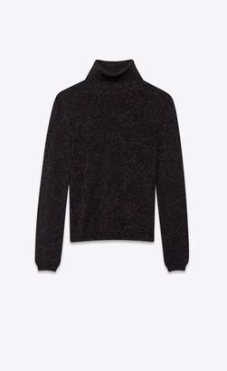 Saint Laurent Lurex Wool Turtleneck